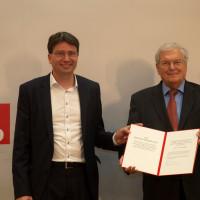 SPD-Fraktionsvorsitzender Florian von Brunn übergibt den Wilhelm-Hoegner-Preis an Prof. Dr. Hubert Weiger